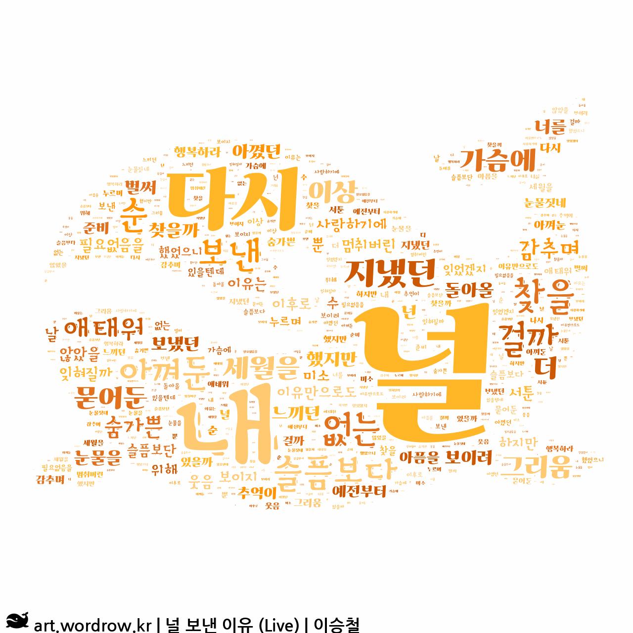 워드 아트: 널 보낸 이유 (Live) [이승철]-58